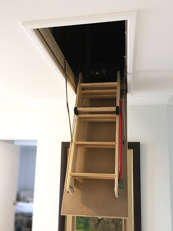 Attic Ladder Installed - Door Open